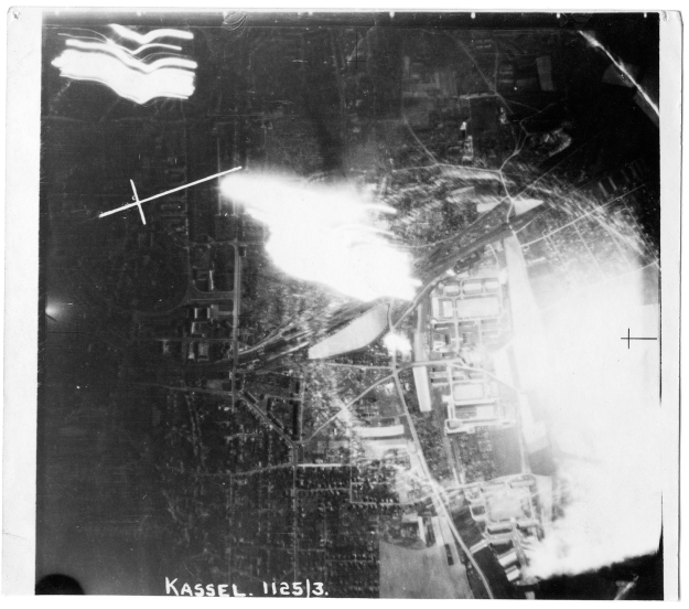 Kassel - night of the 3rd October 1943. Image supplied by Jack Jarmy