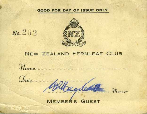 The Fern Leaf Club - guest ticket.