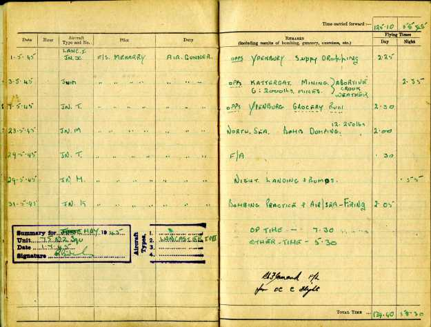Uncle Reub RAF logbook 12