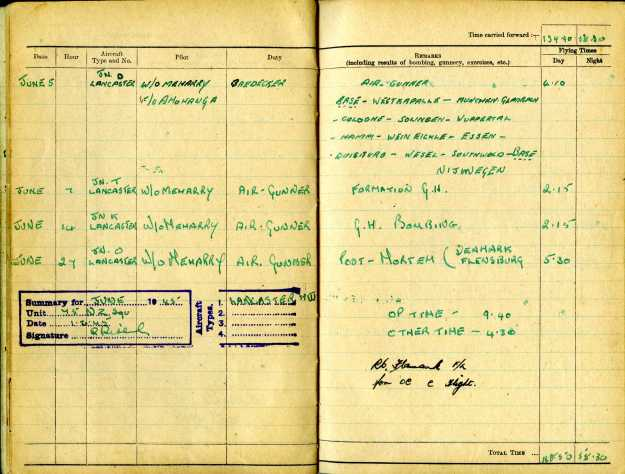 Uncle Reub RAF logbook 13