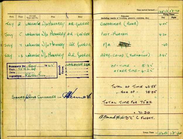 Uncle Reub RAF logbook 14