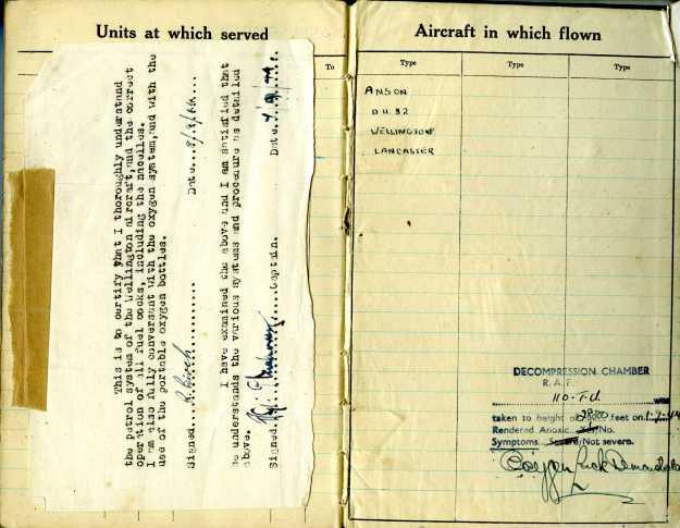 Uncle Reub RAF logbook 18