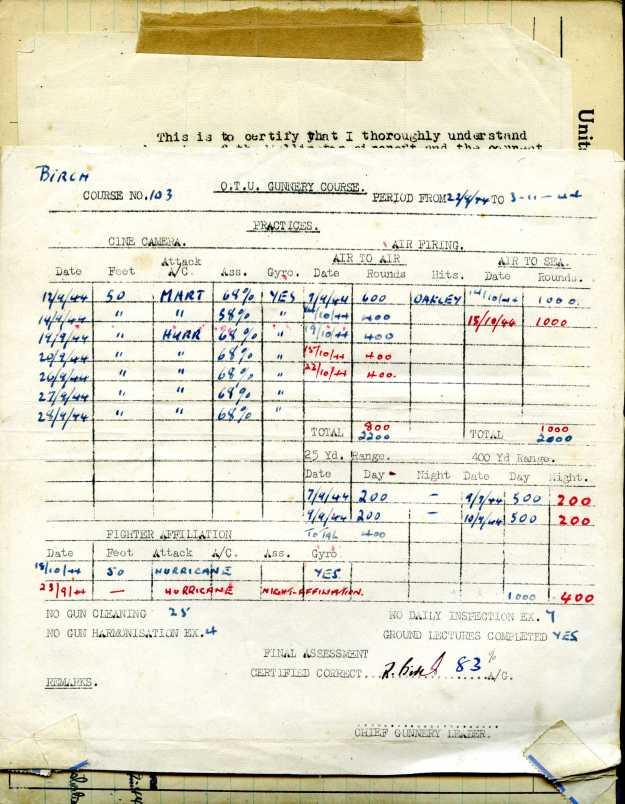 Uncle Reub RAF logbook 19