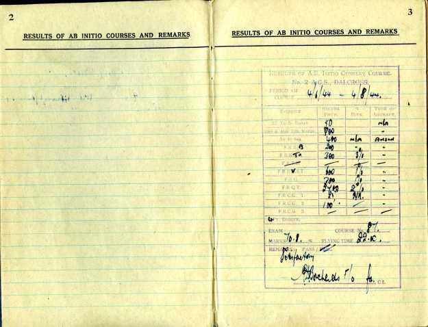 Uncle Reub RAF logbook 2