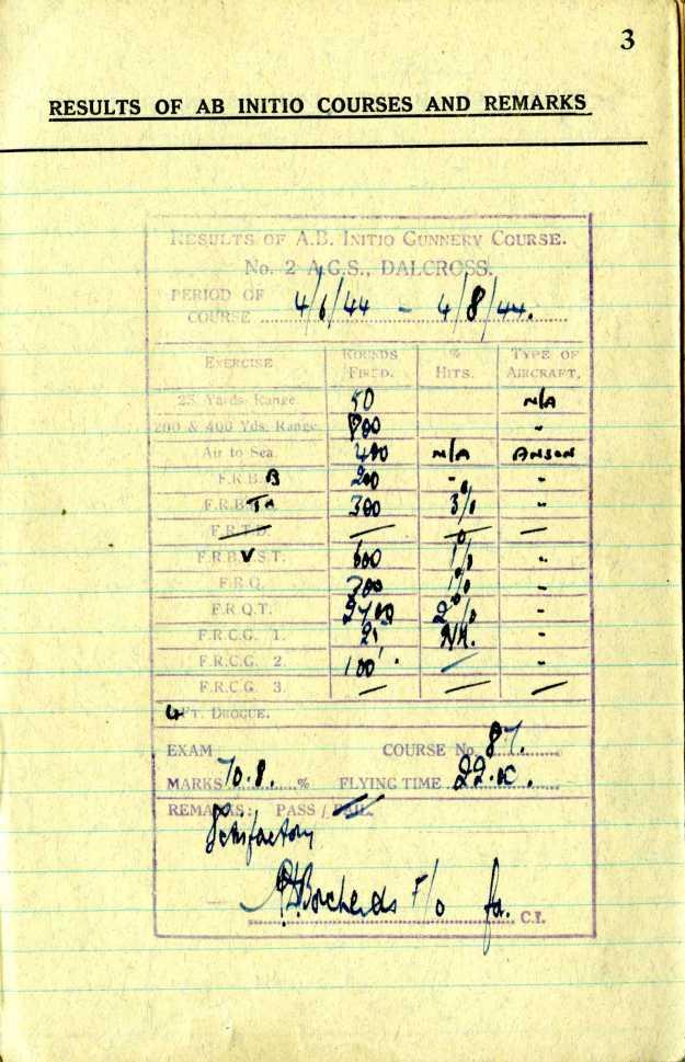 Uncle Reub RAF logbook 2a