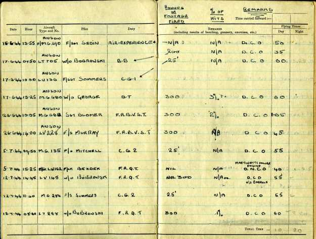 Uncle Reub RAF logbook 3