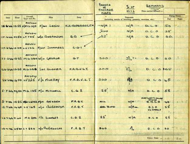 Uncle Reub RAF logbook 3