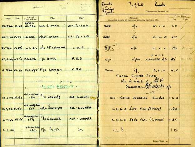 Uncle Reub RAF logbook 4