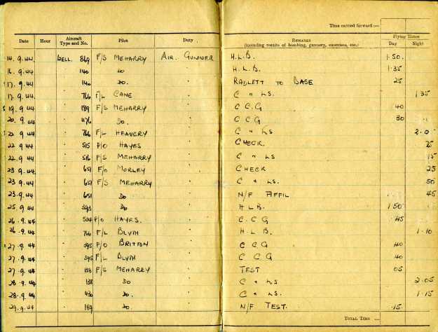 Uncle Reub RAF logbook 5