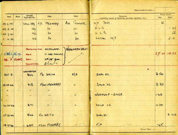 Uncle Reub RAF logbook 6