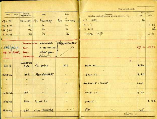 Uncle Reub RAF logbook 6