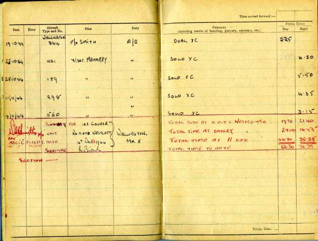 Uncle Reub RAF logbook 7