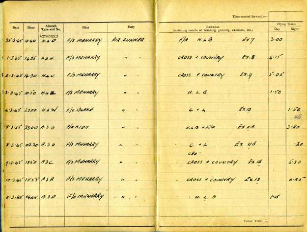 Uncle Reub RAF logbook 9