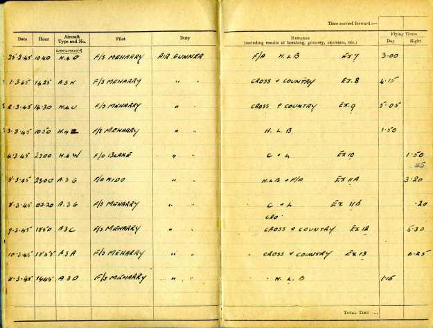 Uncle Reub RAF logbook 9