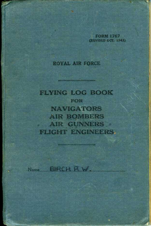 Uncle Reub RAF logbook