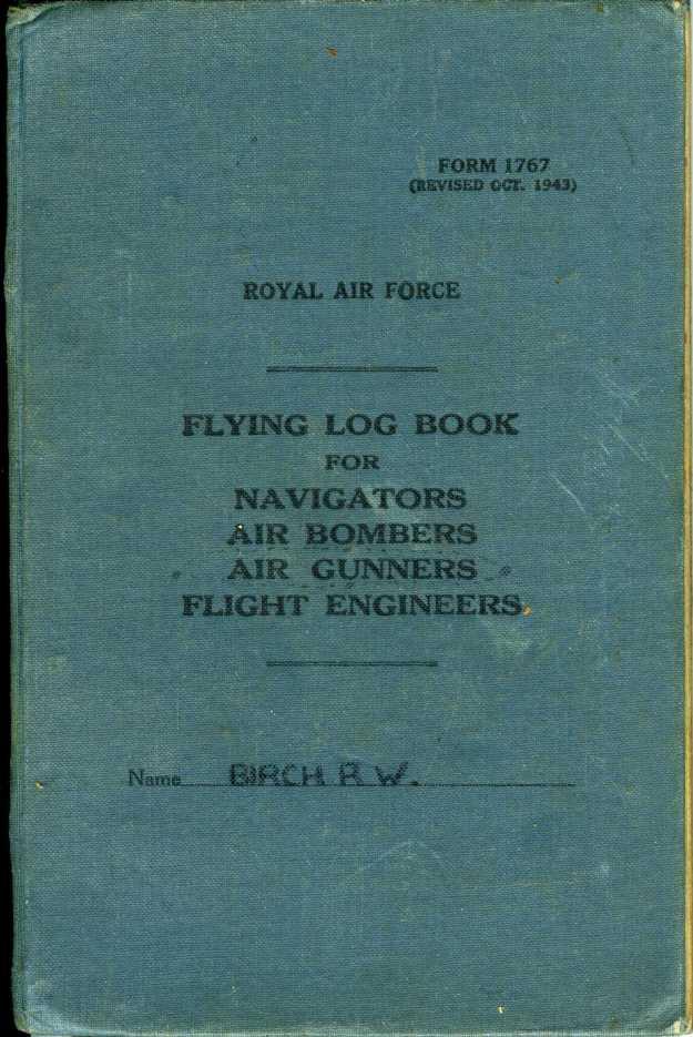 Uncle Reub RAF logbook