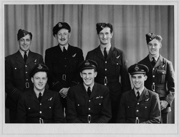 Caption for group photoThe Banks crew. Back row L to R, Alexander Hirst, Jack Britnall, Norman Allen, Jock Fraser.Front row L to R Jimmy Wood, Russell Banks, Maurice Wiggins.