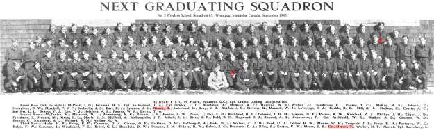 Photo: Next Graduating Squadron, No. 3 Wireless School, Squadron 65,  Winnipeg, Manitoba, Canada, September 1943. From WAGMag, September 43 issue, Commonwealth Air Training Plan Museum.