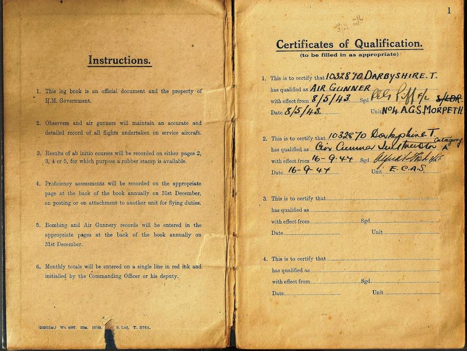 T Darbyshire Air Gunners Log Book 002