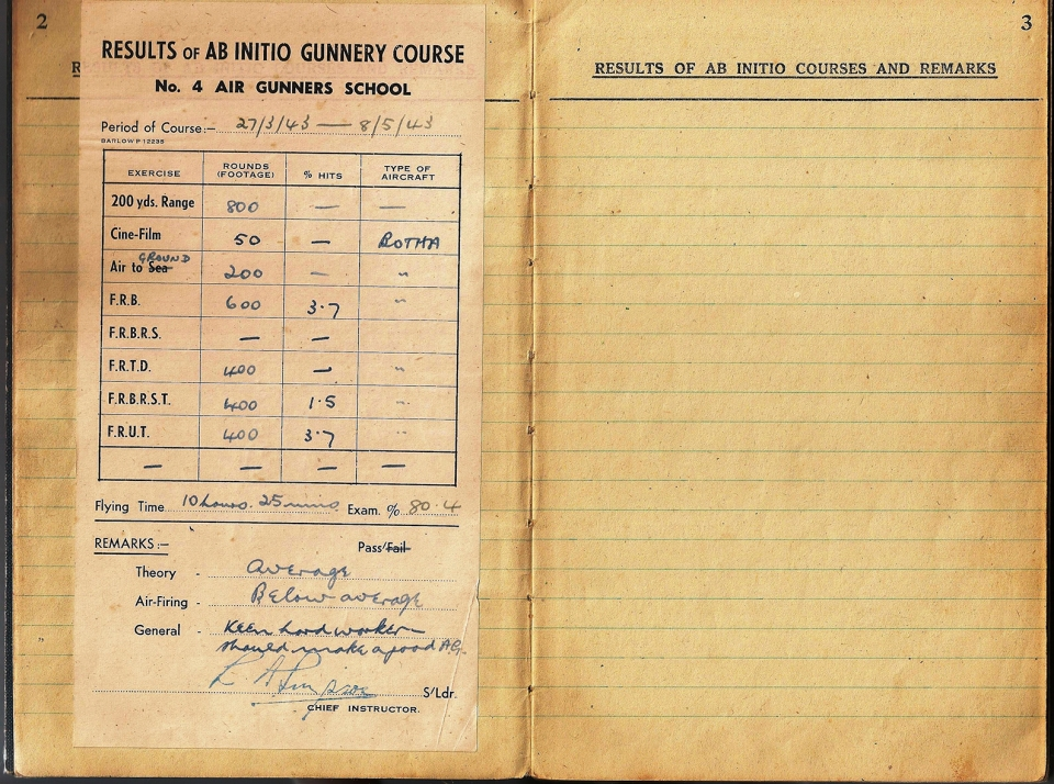 T Darbyshire Air Gunners Log Book 003