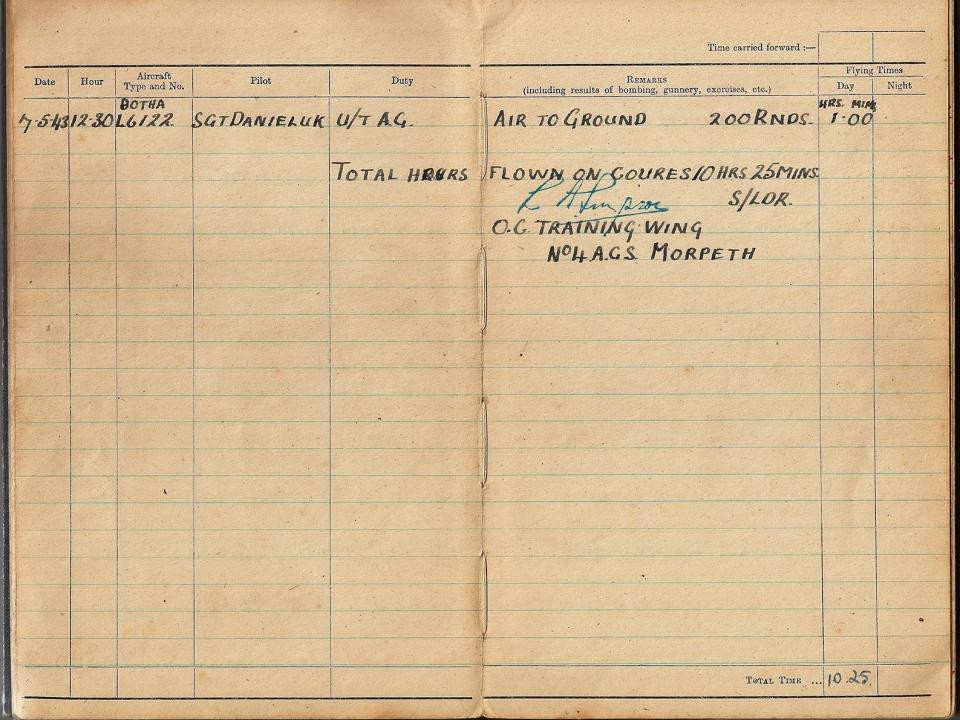 T Darbyshire Air Gunners Log Book 005