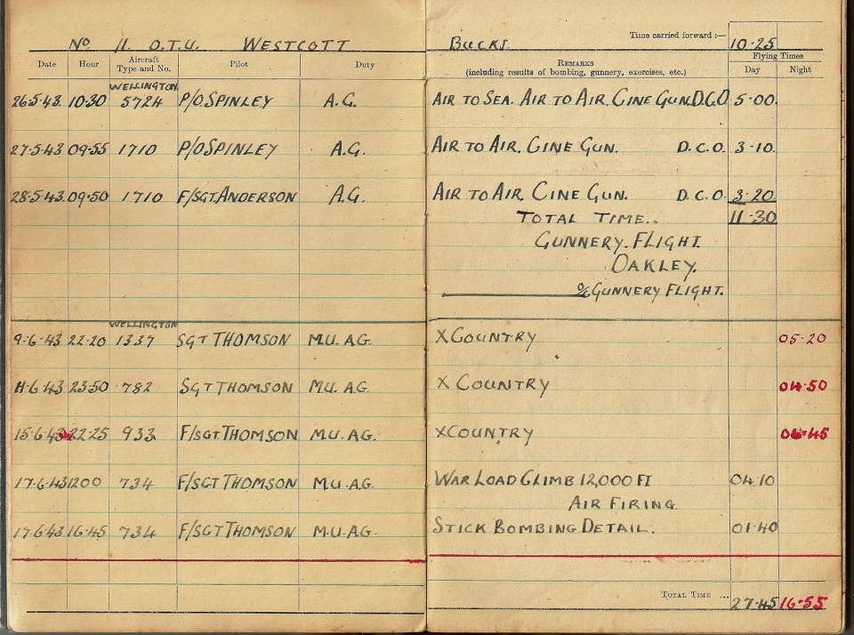 T Darbyshire Air Gunners Log Book 006