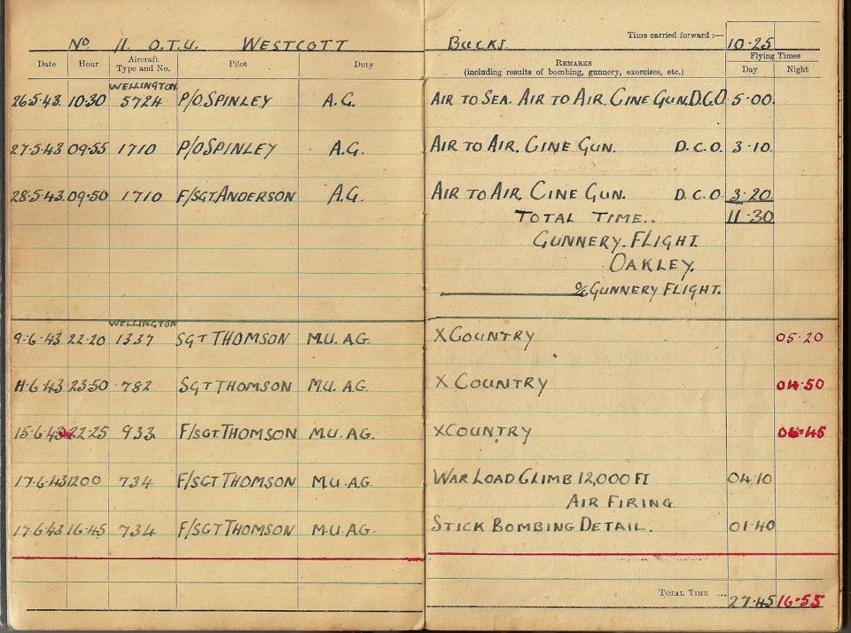 T Darbyshire Air Gunners Log Book 006