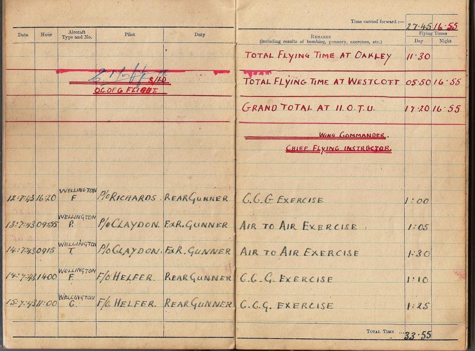 T Darbyshire Air Gunners Log Book 007
