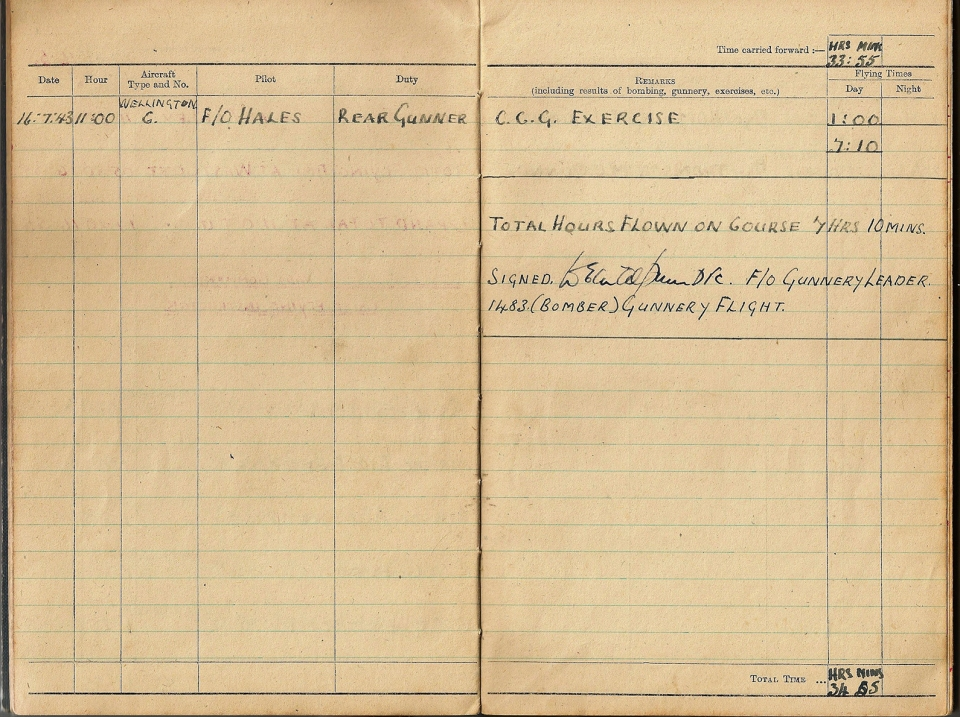 T Darbyshire Air Gunners Log Book 008