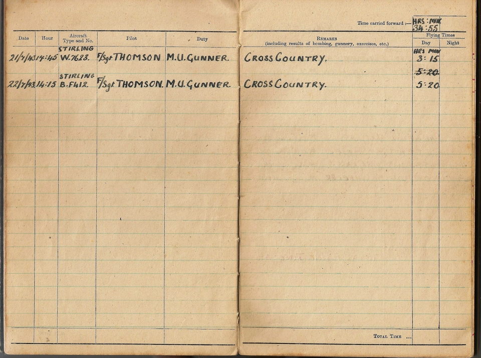 T Darbyshire Air Gunners Log Book 009