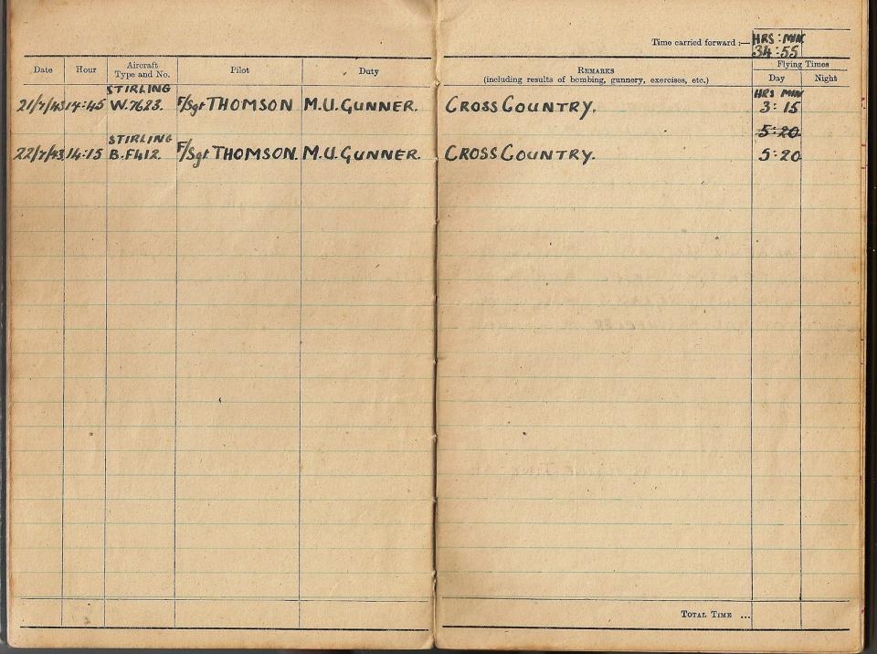 T Darbyshire Air Gunners Log Book 009
