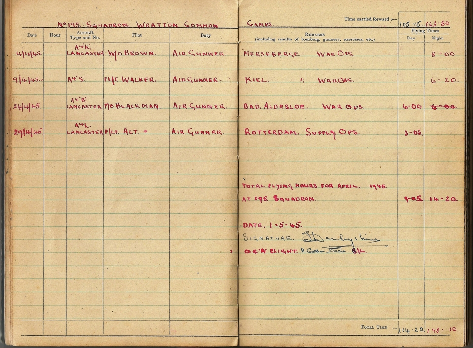 T Darbyshire Air Gunners Log Book 018
