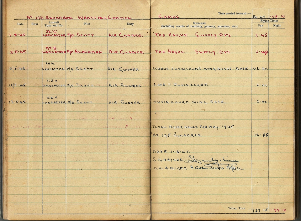 T Darbyshire Air Gunners Log Book 019