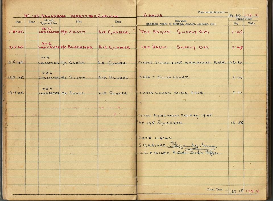 T Darbyshire Air Gunners Log Book 019