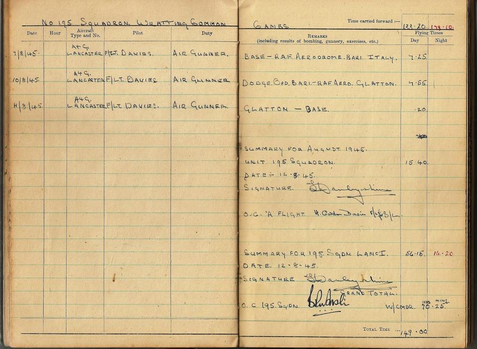 T Darbyshire Air Gunners Log Book 021