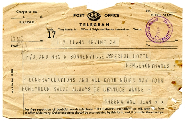 wedding telegram 007