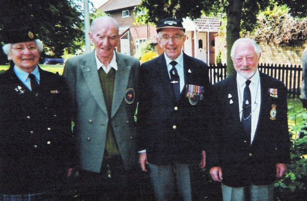 Many thanks to Kevin KIng, Chairman of the UK Friends of 75(NZ) Squadron Association for passing on this image oafter this post was published. L to R Beryl Eccles ( who was a WAAF driver on 75(NZ) ) Dick Lempriere, Ralf Jeffery and David Lewis, taken about 5 years ago.