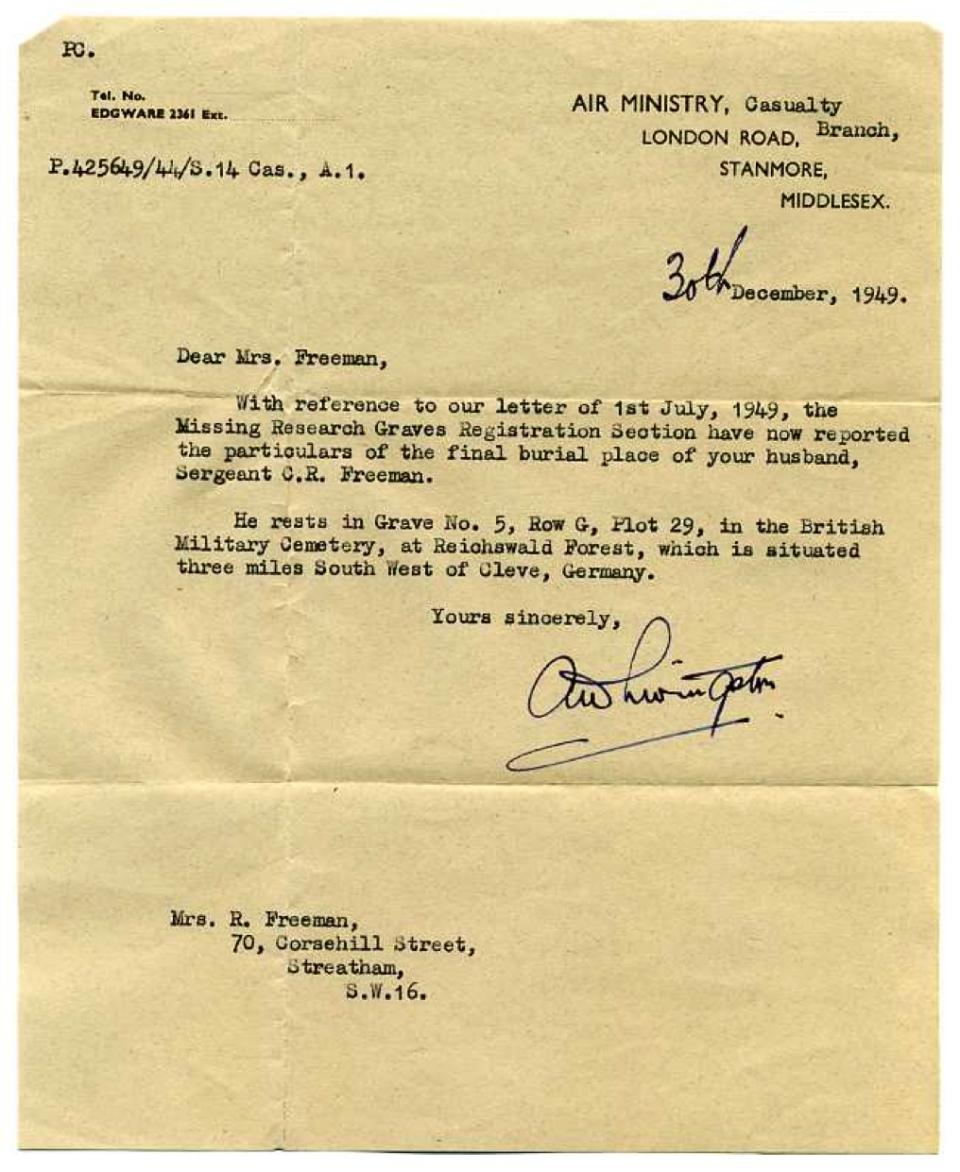 5 Air Ministry, 30 Dec 1949