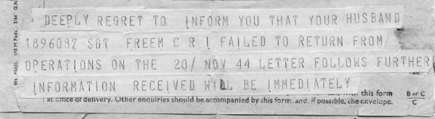 1 Telegram, 20 Nov 1944 cropped 4 post