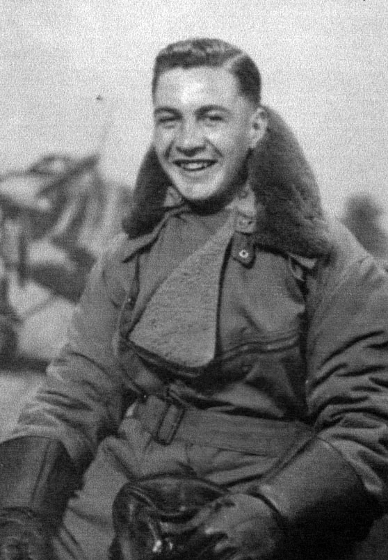 Bobby In Flying Gear 6th June 1943 cropped and b&W