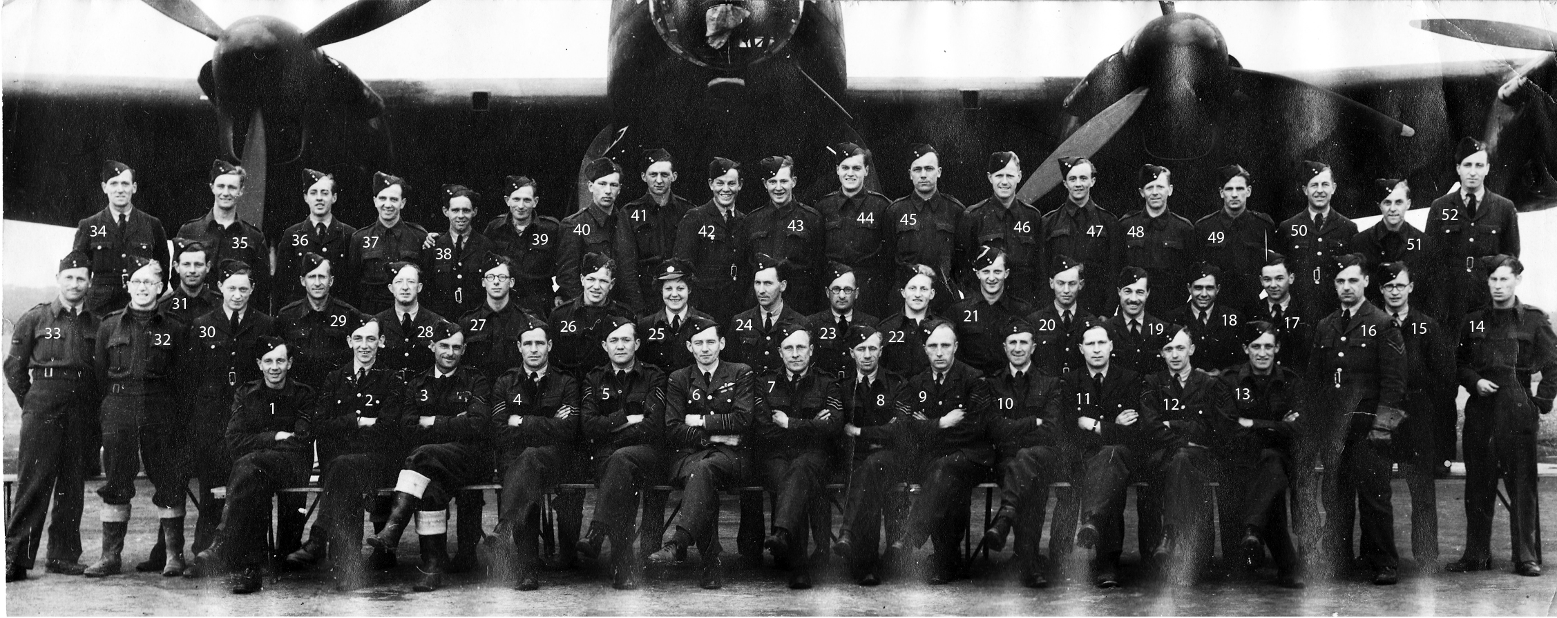 Ground crew of 75(NZ) Squadron RAF March/ May 1944 infront