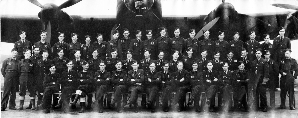 March May 1944 ground crew with numbers