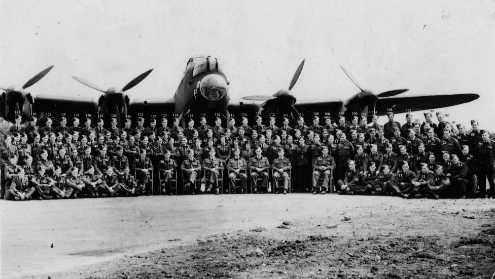 Full Squadron Ground crew May 1944 NUMBERED