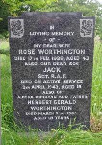 WORTHINGTON, Jack Herbert. Sergeant 574819 RAF