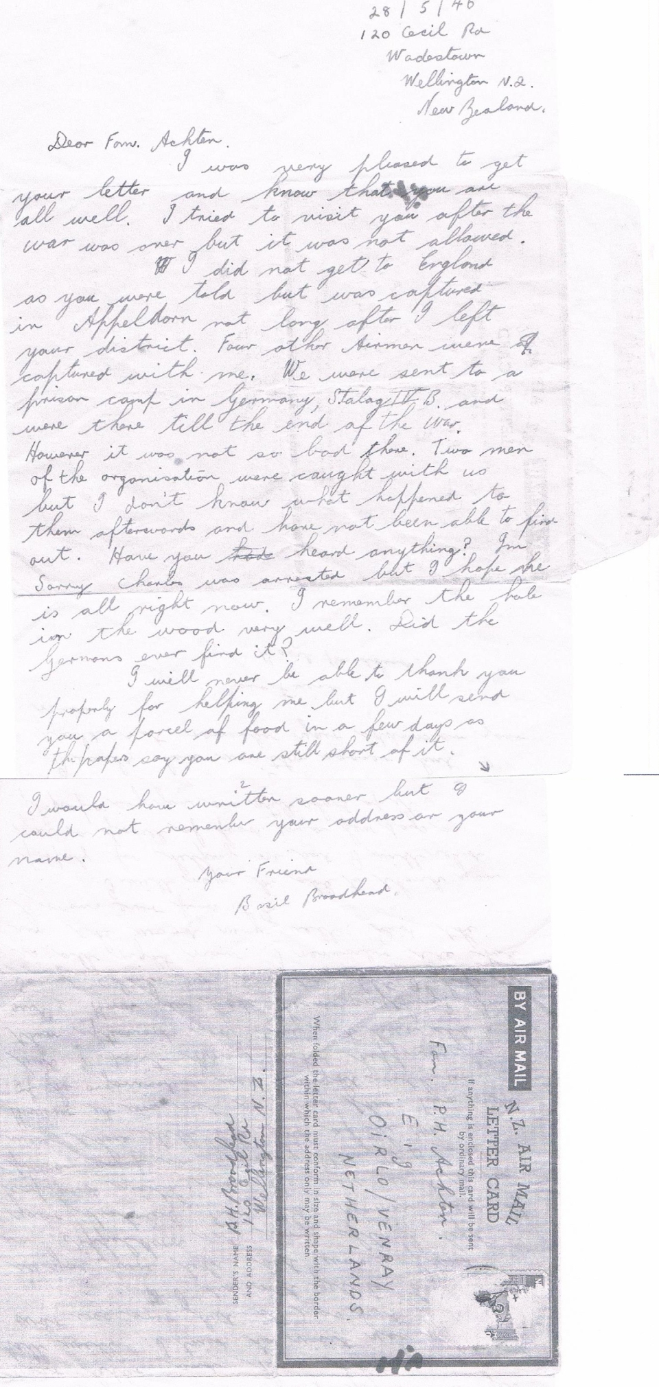 letter from Basil 1946