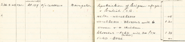 Logbook 26th May 1945 crp