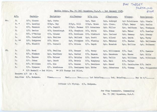 3rd January 1945 dortmund
