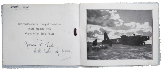 joining of christmas card 1941