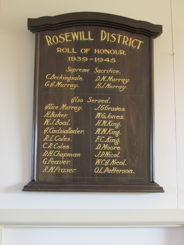 Plaque Rosewill School