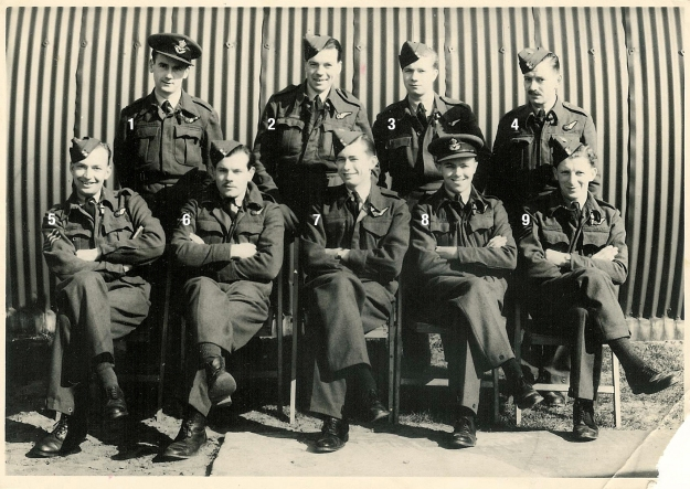 Navigators  Mepal 1944 (RCWeeden front center) NUMBERED